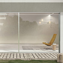 Sliding patio door / wooden / aluminum / double-glazed