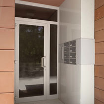 Entry door / swing / wooden / aluminum