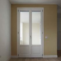 Swing French door / wooden / thermal break