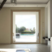 Fixed window / wooden / aluminum / quadruple-glazed