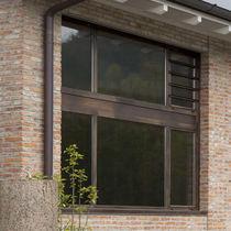 Fixed window / aluminum / quadruple-glazed / thermal break