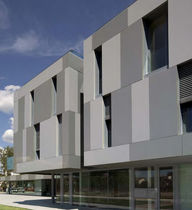 Aluminum cladding / smooth / colored / panel