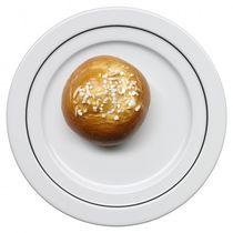 Round plate / porcelain / plain