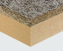 High-performance two-component insulation board / with fiberboard insulation / wood fiber core / 1 face in wood