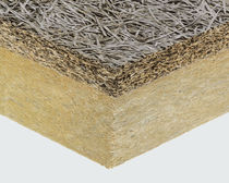 High-performance two-component insulation board / with fiberboard insulation / rock wool core / 1 face in wood