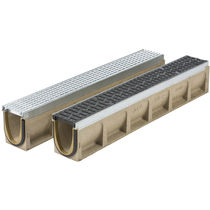 Public space drainage channel / metal / with grating