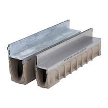 Public space drainage channel / stainless steel / side-slotted