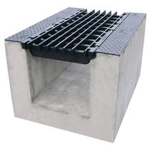 Road drainage channel / metal / with grating
