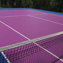Polypropylene sports flooring / for outdoor use / for tennis courts