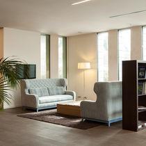 Sofa bed / Art Deco / fabric / for public buildings