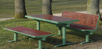 Contemporary picnic table / PET / stainless steel / rectangular