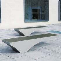 Public bench / original design / aluminum / stainless steel