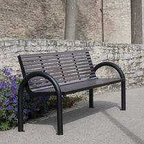 Public bench / traditional / aluminum / stainless steel