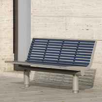 Public bench / contemporary / aluminum / stainless steel
