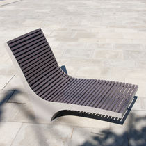 Contemporary sun lounger / aluminum / stainless steel / PET