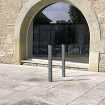Security bollard / stainless steel / high