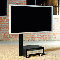 Contemporary TV stand / with concealed casters / metal