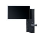 Contemporary TV stand / with concealed cabling / glass
