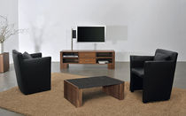 Contemporary TV cabinet / hi-fi / in wood