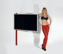 Contemporary TV wall bracket / with DVD player shelf / swivel