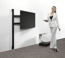 Contemporary TV wall bracket / with holder for DVD player / swivel