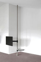Contemporary TV ceiling mount / with DVD player shelf / floor-to-ceiling / swivel