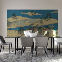 Oriental wallpaper / silk / scenic / chinoiserie