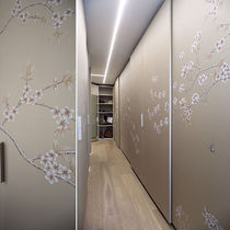 Contemporary wallpaper / floral / handmade