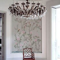 Oriental wallpaper / silk / floral / animal motif
