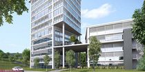 Aluminum solar shading / for facades / window / swiveling