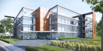Metal solar shading / for facades / swiveling