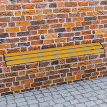 Public bench / contemporary / in wood / metal