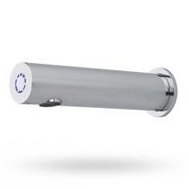 Washbasin single tap / wall-mounted / metal / self-closing