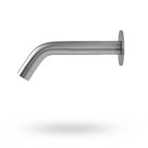 Washbasin single tap / wall-mounted / stainless steel / electronic