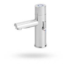 Washbasin single tap / deck-mounted / metal / self-closing