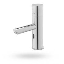 Washbasin single tap / deck-mounted / metal / electronic