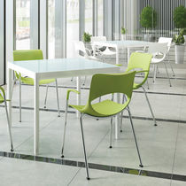 Contemporary visitor chair / stackable / GreenGuard® certification / metal