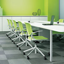 Conference chair with armrests / on casters / star base / GreenGuard® certification