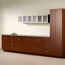 Low filing cabinet / tall / laminate / aluminum