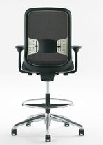 Mesh office stool / on casters / adjustable / swivel
