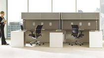Workstation desk / laminate / contemporary / commercial