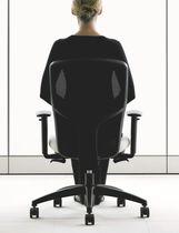 Contemporary office armchair / mesh / on casters / reclining