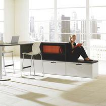 Low filing cabinet / tall / laminate / metal