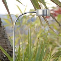 Floor lamp / contemporary / stainless steel / outdoor