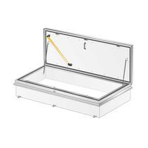 Roof hatch / rectangular / with scissor staircase / metal