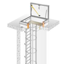 Roof hatch / square / metal / with ladder