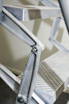 Ladder / accordion protection / retractable / aluminum