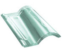 Interlocking roof tile / transparent