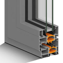 Aluminum window profile / thermal break