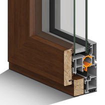 Wooden window profile / aluminum / thermal break